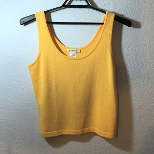 St. John Santana Bright Yellow Knit Tank Top
